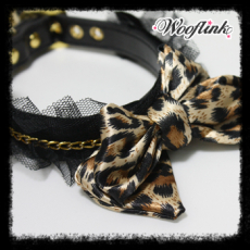 Halsband & Leine Leopard Bow