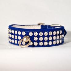 Hundehalsband & Leine Royal saphirblau, im Set