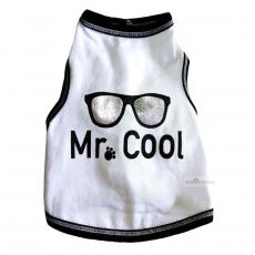 Top Mr.Cool weiß-silber (Gr.S,M,L)