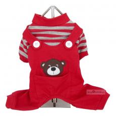 Hunde-PJ Bear rot (Gr.XS)