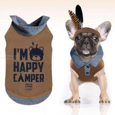 Polo-Shirt Camper braun-blau (Gr.XS,L)
