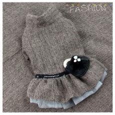Hundekleid Herringbone braun (Gr.S,L)