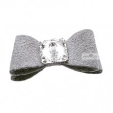 Hundehaarschleife Big Bow grey