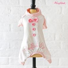 Wooflink BABY PJ weiß-rosa