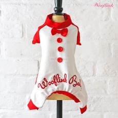 Wooflink BABY PJ weiß-rot