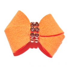 Haarschleife New Bow electric orange