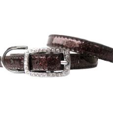 Hunde-Halsband Sparkle brown