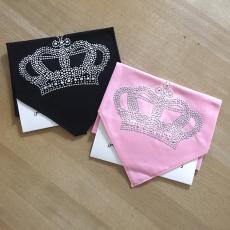 Hunde-Halstuch Crown rosa