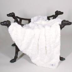 Hundedecke LUXE creme-weiß