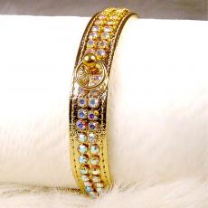 Hundehalsband Glamour gold (Gr.XS,XL)