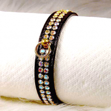 Halsband Glamour schwarz (Gr.XS)