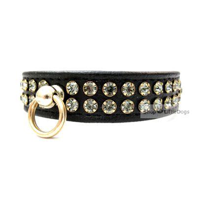 Hunde-Halsband 'Silvermoon' schwarz (Gr.XS,L)