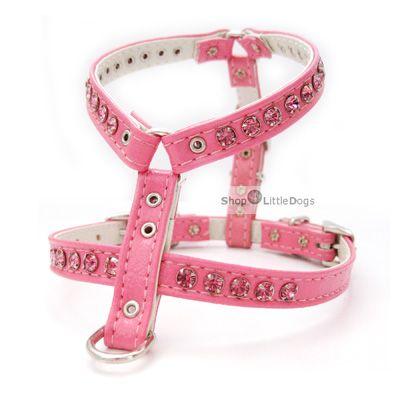 Hundegeschirr & Leine 'Pretty' pink