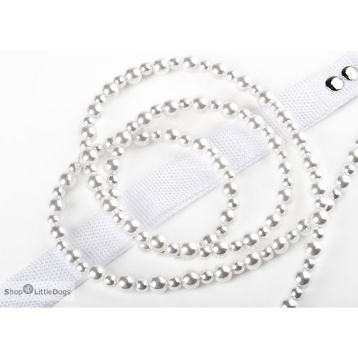 Hundeleine 'White Kiska Pearl'