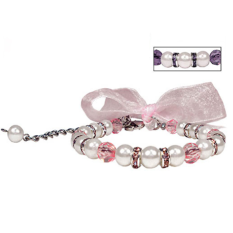 Perlen-Collier 'Satin Pearl' rosé