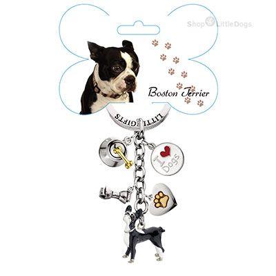 Schlüsselanhänger 'Boston Terrier'
