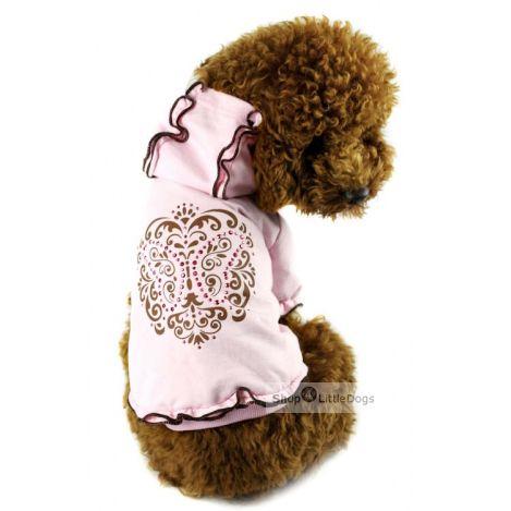 Sweatshirt 'Fleur de Lys' rosé (Gr.S,M)