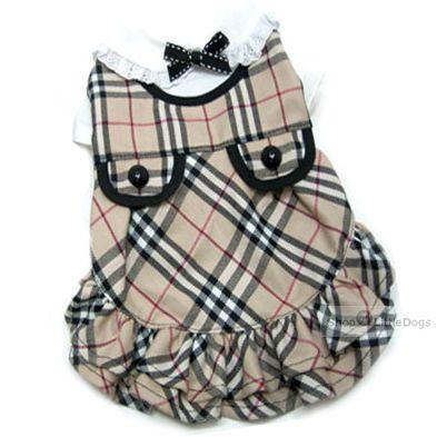 Hunde-Kleid 'Burburry'