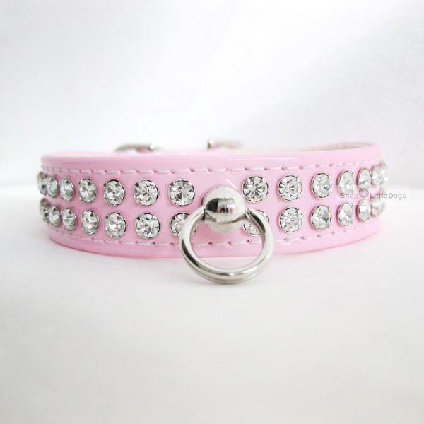 Hunde-Halsband & Leine 'Ciccone' rosé-Lack, im Set