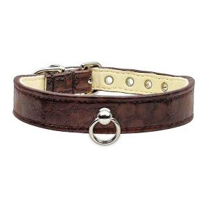 Hunde-Halsband 'Onyx' chocolate