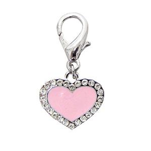 Charm 'Enamel Heart' rosé