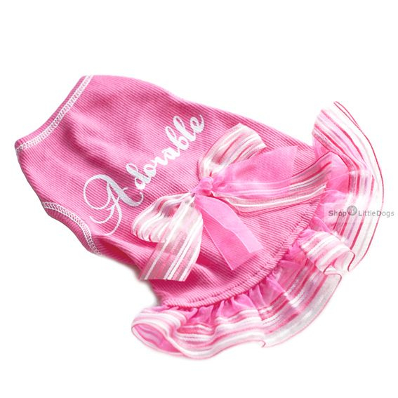Hunde-Kleid  'Adorable' pink (Gr.XXS,XS)