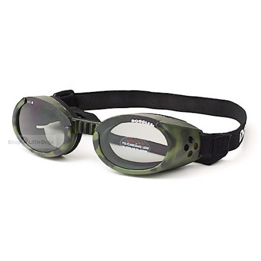 Hunde-Sonnenbrille 'Camo' grün (Gr.XS)