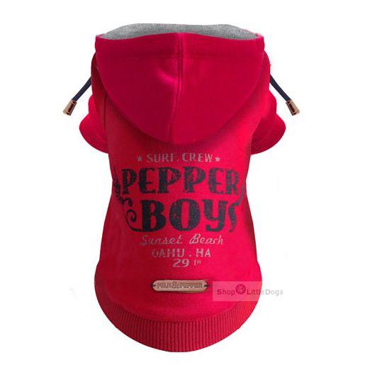 Hunde-Sweater 'Pepper Boys' rot