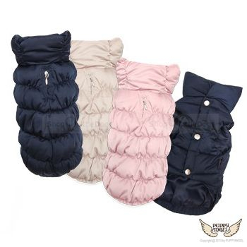 Winterjacke 'Luxury' dunkelblau, rosé, beige