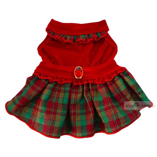 Hunde-Kleid 'Madame' rot (Gr.XXS,XS)