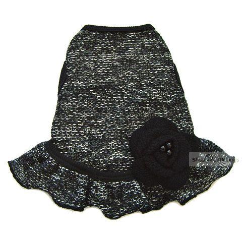 Hunde-Kleid 'Katrin' schwarz (Gr.XXS,XS,L)