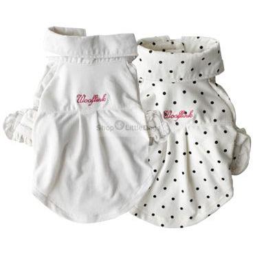 Shirt 'My First Dress' weiß, weiß-getupft