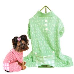 Hunde-PJ 'Bone' grün (Gr.XS)