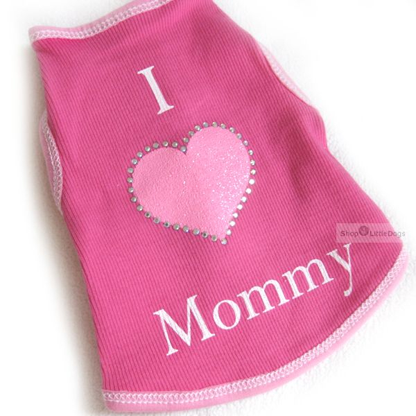 Top 'I Love My Mommy' pink (Gr.L)