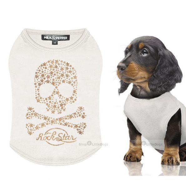 Shirt 'Peppermind' weiß-gold (Gr.XS)