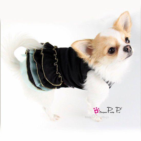 Hundekleid 'Angel' schwarz