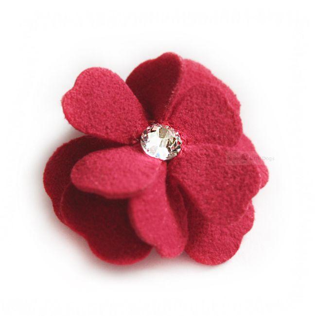Haarschleife 'Flowers' red