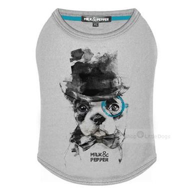 Hundeshirt 'Geek' grey
