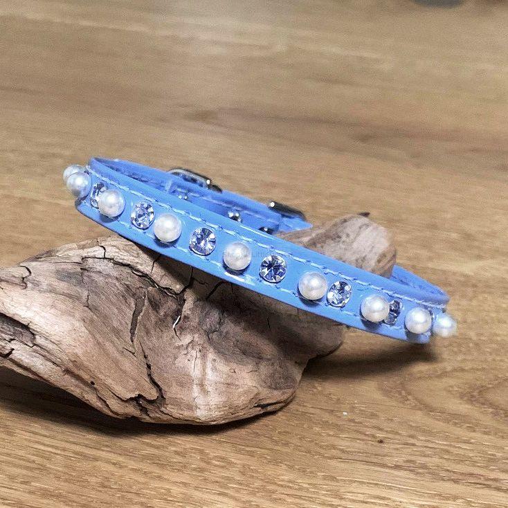 Halsband 'Puppy' hellblau-lack