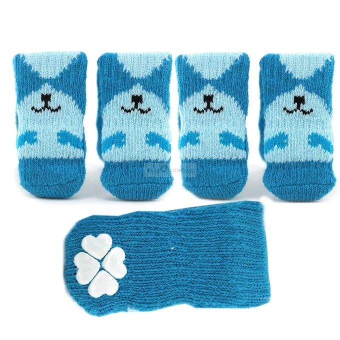Hundesocken 'Smile' blau