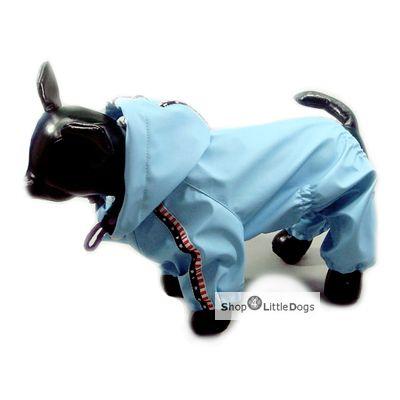 Hunde-Regenanzug 'Blue Jumper' hellblau