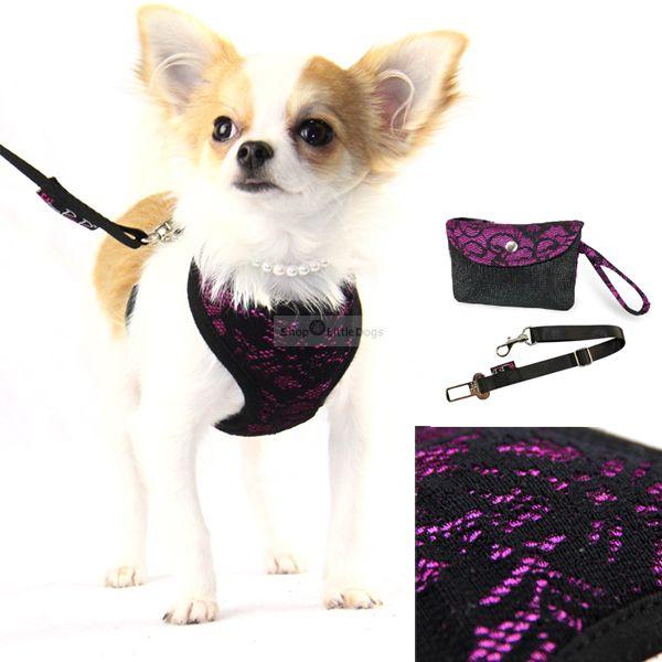 Hunde-Softgeschirr 'Chloe' violett (Gr.L)