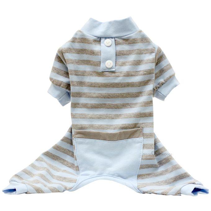 Pyjama 'Stripes' blue-grey (Gr.XS)