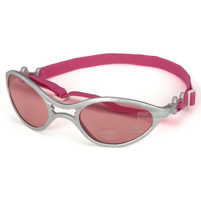 Hunde-Sonnenbrille 'Rubber' silber (Gr.S)