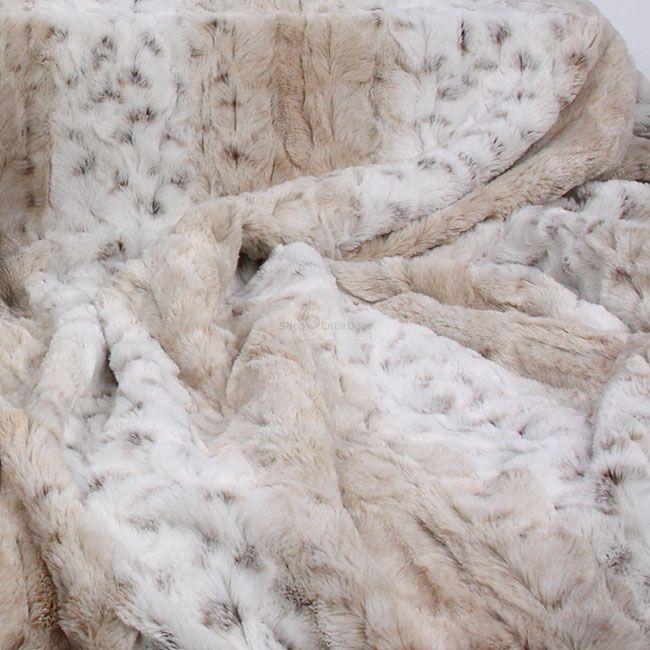 Hundedecke 'Snow Leopard' beige