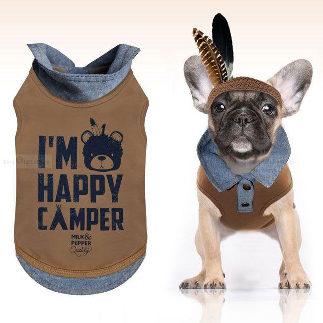 Polo-Shirt 'Camper' braun-blau (Gr.XS,L)