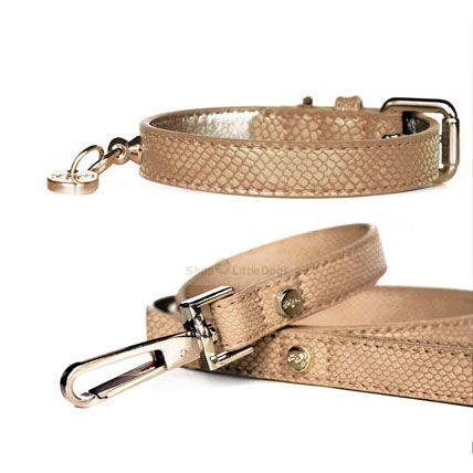 Halsband 'NAJA' camel-kroko