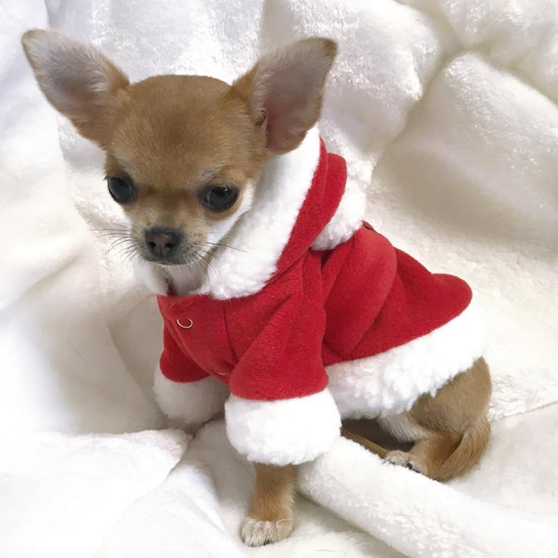Hundemantel 'Santa Suit' rot