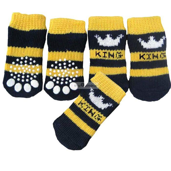 Hundesocken 'King' dunkelblau (Gr.M)