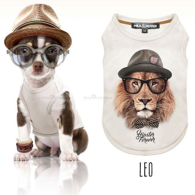 Shirt 'Leo' weiß (Gr.XS,XXL)